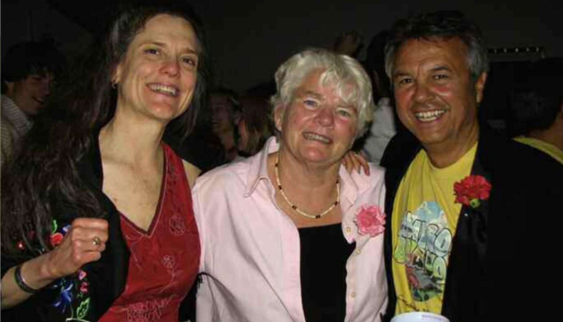 Amigos Bravos cofounders, Brian Shields and Sawnie Morris former board member Mary Humphrey