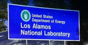 Los Alamos National Laboratory Entrance Sign